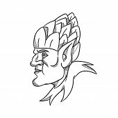 Drawing Sketch Style Illustration Of An Elf, A Human-shaped Supernatural Being In Germanic Mythology poster