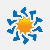 Sun Vector Isolated Summer Icon Design. Vector Yellow Sun Symbol. Vector Sun Sun Element. Sun Weathe poster