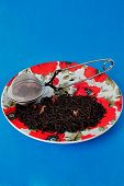 Plate With Tea And Tea Infuser