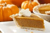 foto of pumpkin pie  - Fresh Homemade Pumpkin Pie made for Thanksgiving