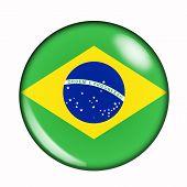 Button Flag Of Brazil