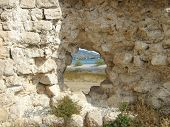foto of leopold  - a view through a hole in tower  - JPG