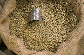 Bean Can in the Burlap Sack of Coffee