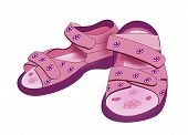 Purple Kids Sandals