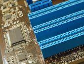 PCI-Steckplätze closeup