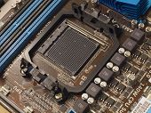 Zócalo de la CPU en la placa base