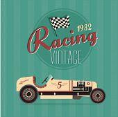 Vector vintage sport racing cars