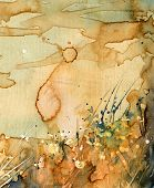 grass Abstract watercolor