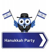 Hanukkah party sign