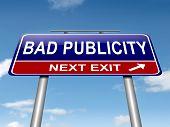 Bad Publicity Concept.