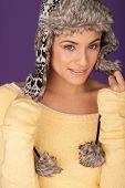 Beautiful Woman In Warm Winter Hat