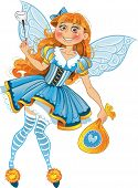 Little tooth fairy with wings