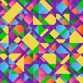 Colorful Abstract Retro Triangular Pattern Poster