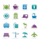 Traveling and vacation icons