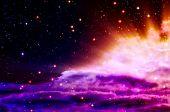 birth of a new blue and magenta nebula