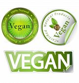 Vegan label set