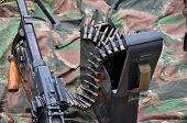 World War 2 Machine Gun In Close View