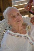 Brushing Great Grandma's Hair