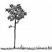 Hübsch Tree Silhouette