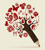 China Tradition Concept Pencil Tree