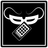 An image of a smartphone theft icon.