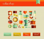 Plantilla de diseño Web Coffee Shop