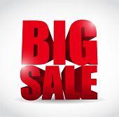 Big Sale Word Illustration Design