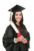 Hispanic Female College Graduate Portrait