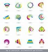 Abstract Design Elements . Collection with icons for abstract logo.