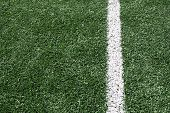 Photo Of A Green Synthetic Grass Sports Field With White Line
