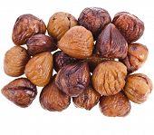 Cooked chestnut fruit isolated on white background