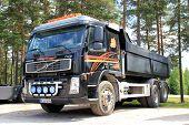 Black Volvo FM12 Lorry