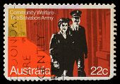 AUSTRALIA - CIRCA 1980: A stamp printed in Australia honoring Community Welfare, Salvation Army, cir