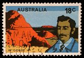 AUSTRALIA - CIRCA 1976: A stamp printed in Australia shows William Gosse, circa 1976