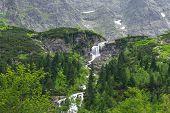 Cascades of mountain creek in Tatra National Park, Poland