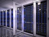 stock photo of processor  - Servers in data center - JPG