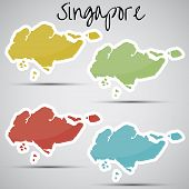 stickers in form of Singapore