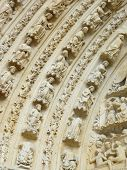 Carved Stone Lintel On A Church Door