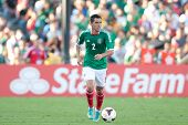 PASADENA, CA - JULY 7: Israel Jimenez #2 of Mexico during the 2013 CONCACAF Gold Cup game between Me