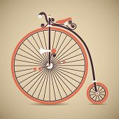 image of penny-farthing  - Vintage antique high wheel penny farthing bicycle - JPG