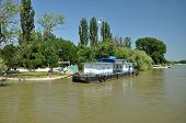 Estação de barco no delta do Danúbio