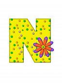 Alphabet Zany Dots N