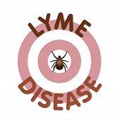 La enfermedad de Lyme, garrapata, toros ojo erupción