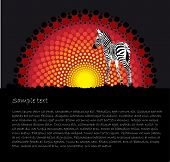 African tribal art stylized vector background