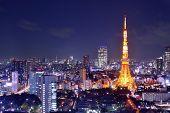 Landmark Tokyo Tower in Tokyo, Japan. poster