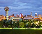 stock photo of knoxville tennessee  - Skyline of downtown Knoxville - JPG