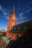 "picture of canopy roof  - Sweden, Sundsvall, ""Gustav Adolfs Kyrkan"" (then name of the church)