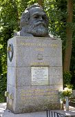 Karl Marx Bust In Highgate Cemetery