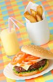 Burger Fries & Milkshake