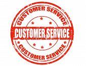 Kunden Service-Stempel